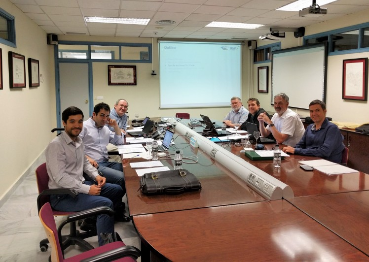 TBO-Met Kick Off Meeting. From left to right: A. Franco; M. Soler; D. Rivas; C.H. Rokitansky; D. Sächer; T. Hauf; J. Simarro. Phote taken by A. Valenzuela.